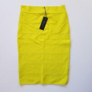 NEW Neon yellow skirt